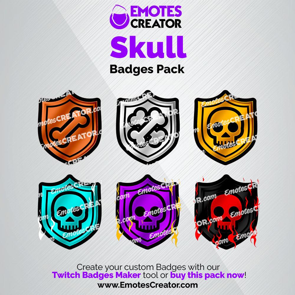 Skull Twitch Badges