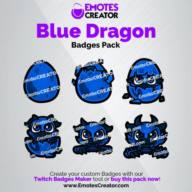 Blue Dragon Sub Badges Pack