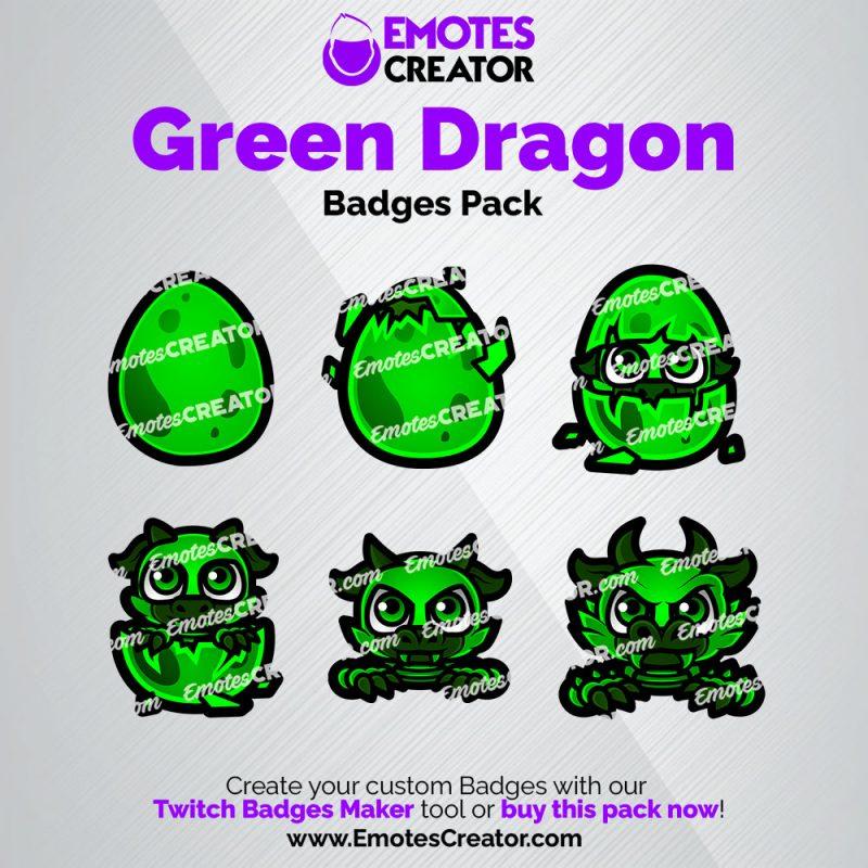 Green Dragon Sub Badges Pack