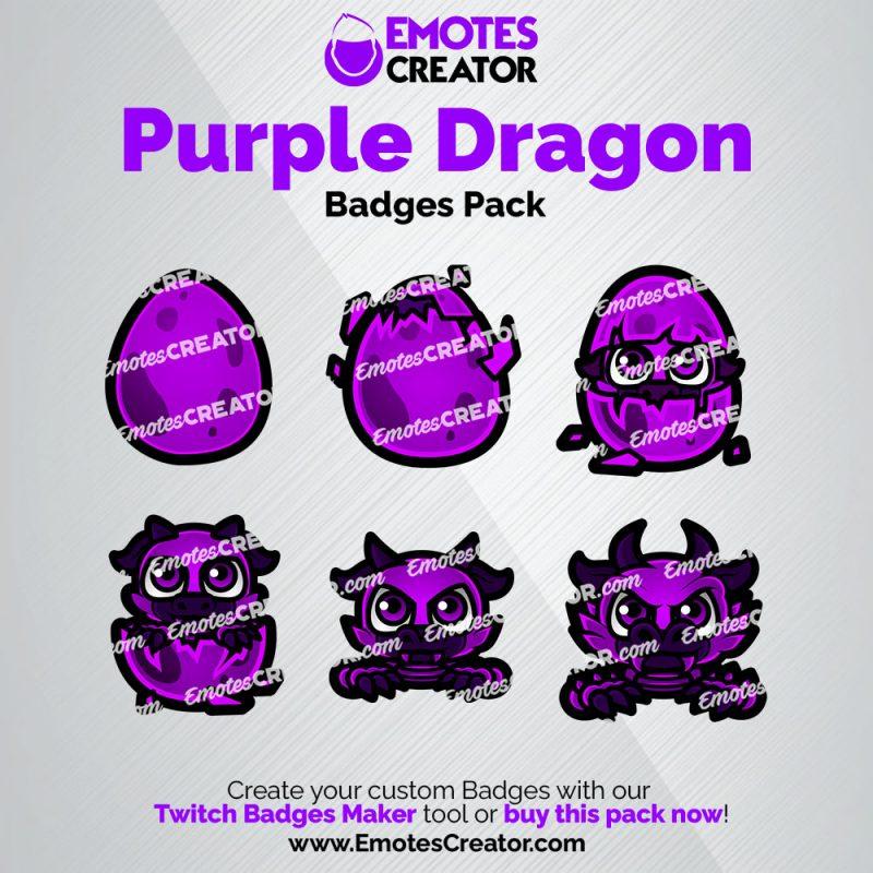 Purple Dragon Sub Badges Pack