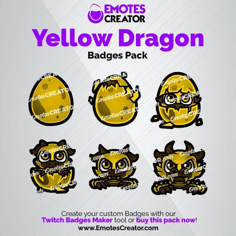 Yellow Dragon Sub Badges Pack