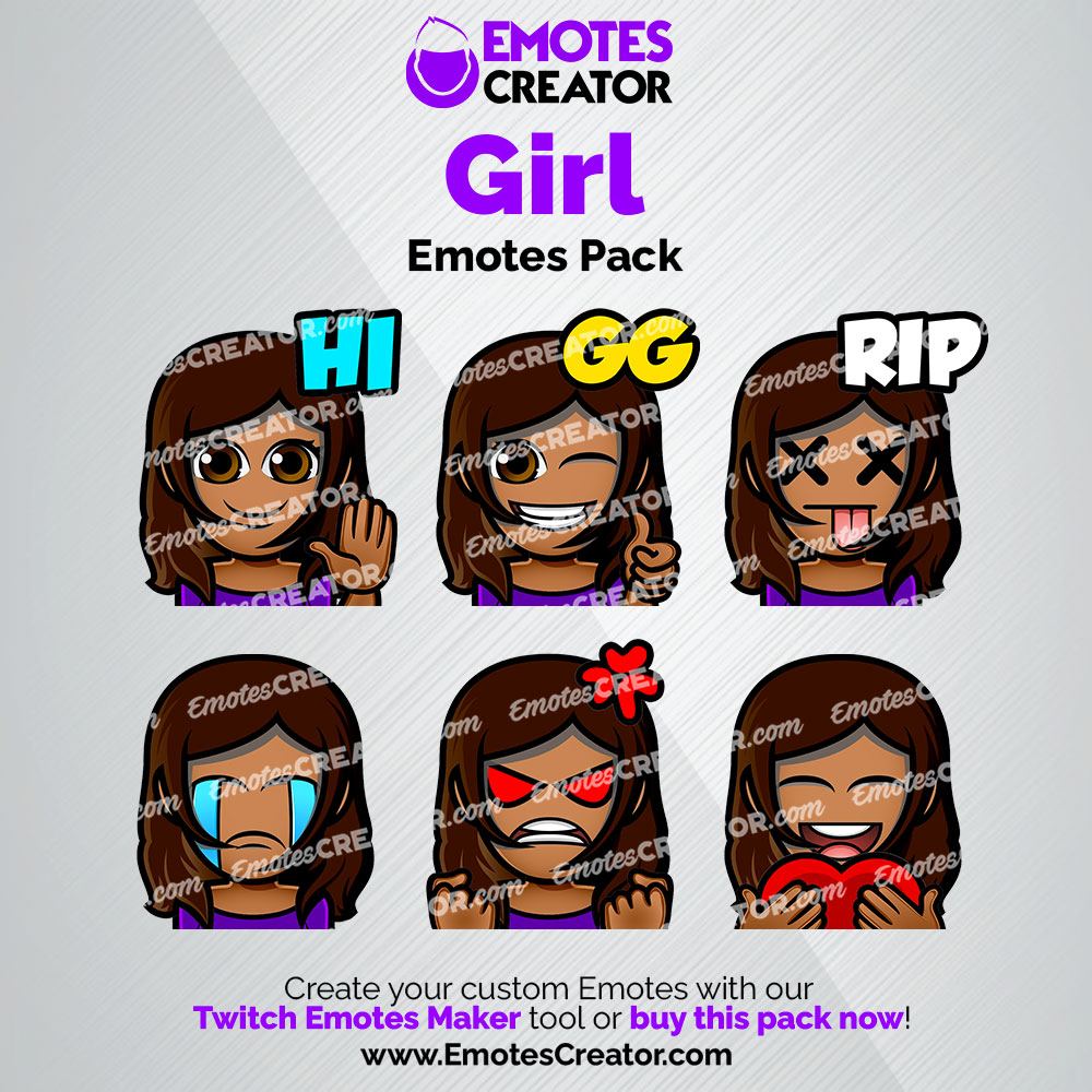 Girl Twitch Emotes Pack