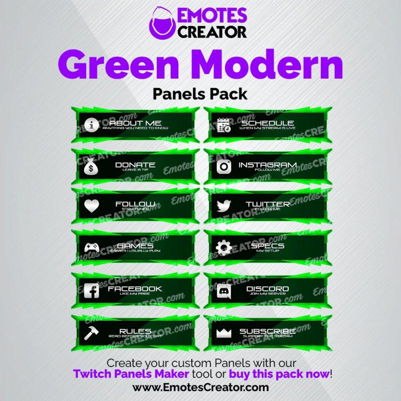 Green Modern Panels Pack