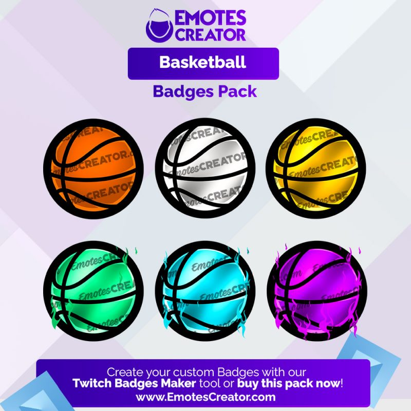 basketball Twitch Badges