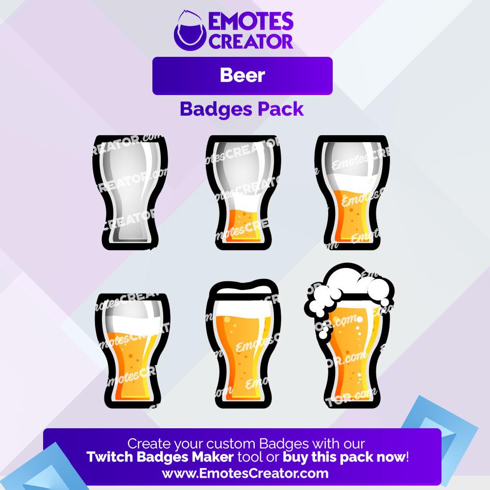 Beer Twitch Badges