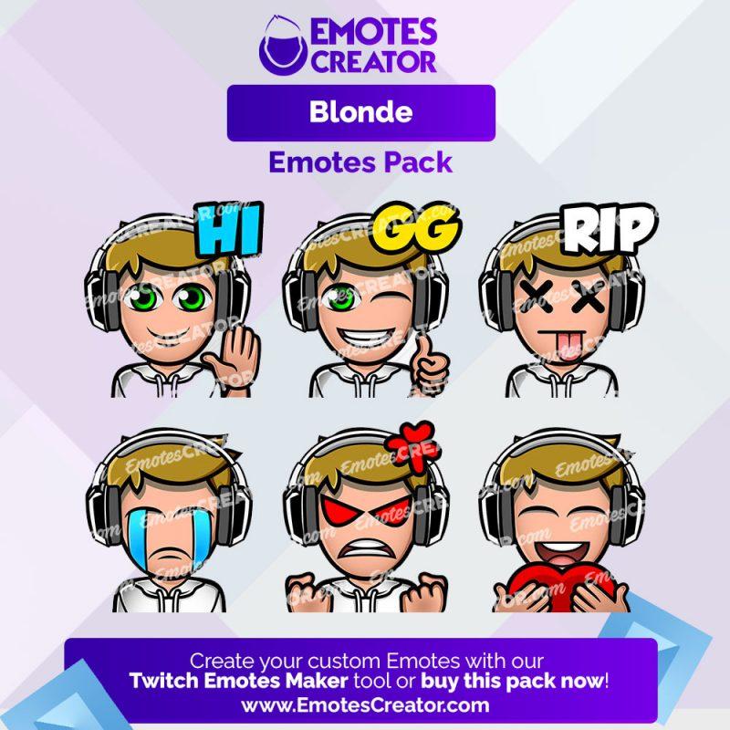 Blonde Emotes Pack