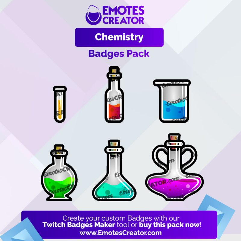 Chemistry Sub Badges Pack