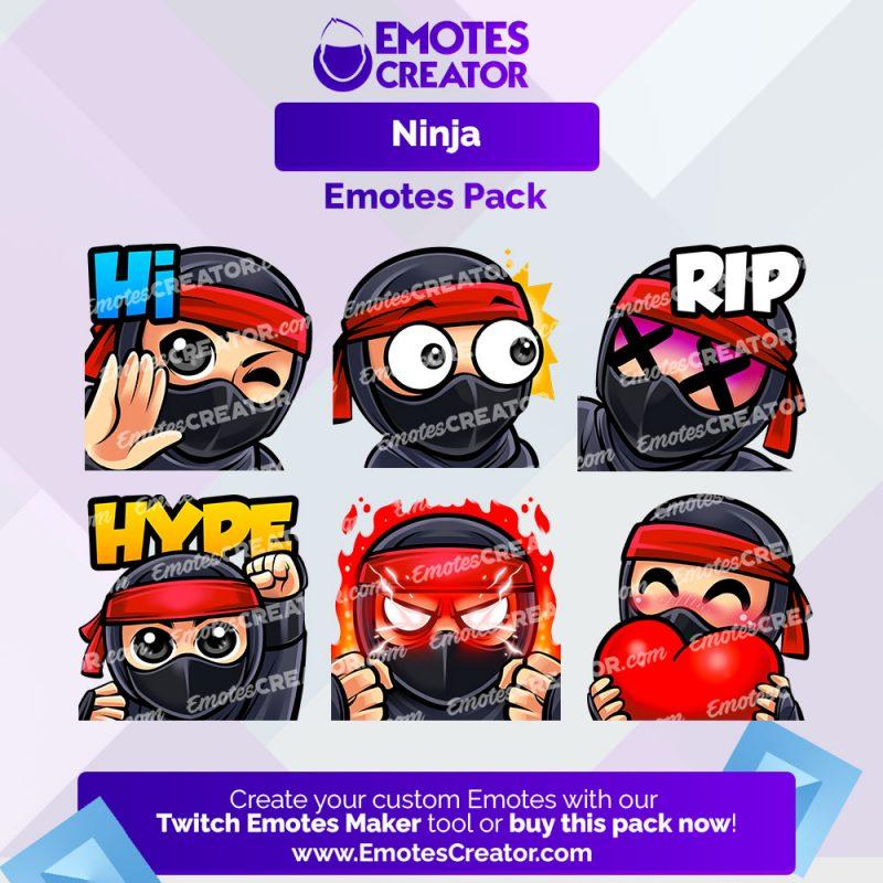 Ninja Emotes Pack