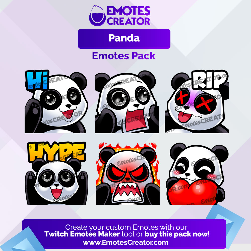 Panda Twitch Emotes