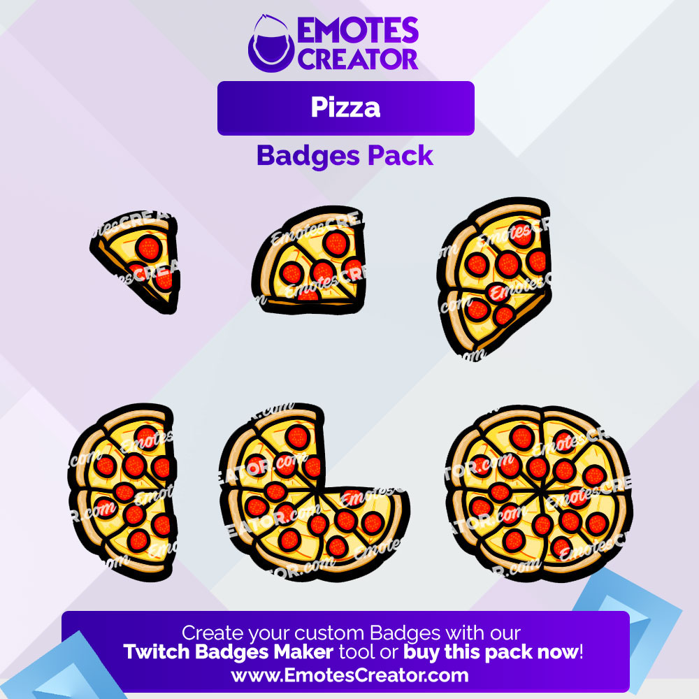Pizza Twitch Badges Pack