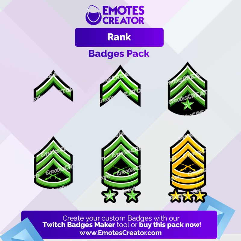 Military Ranks Twitch Badges