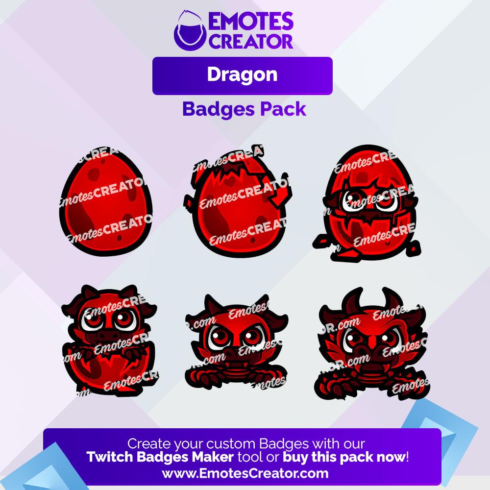 Dragon Badges Pack