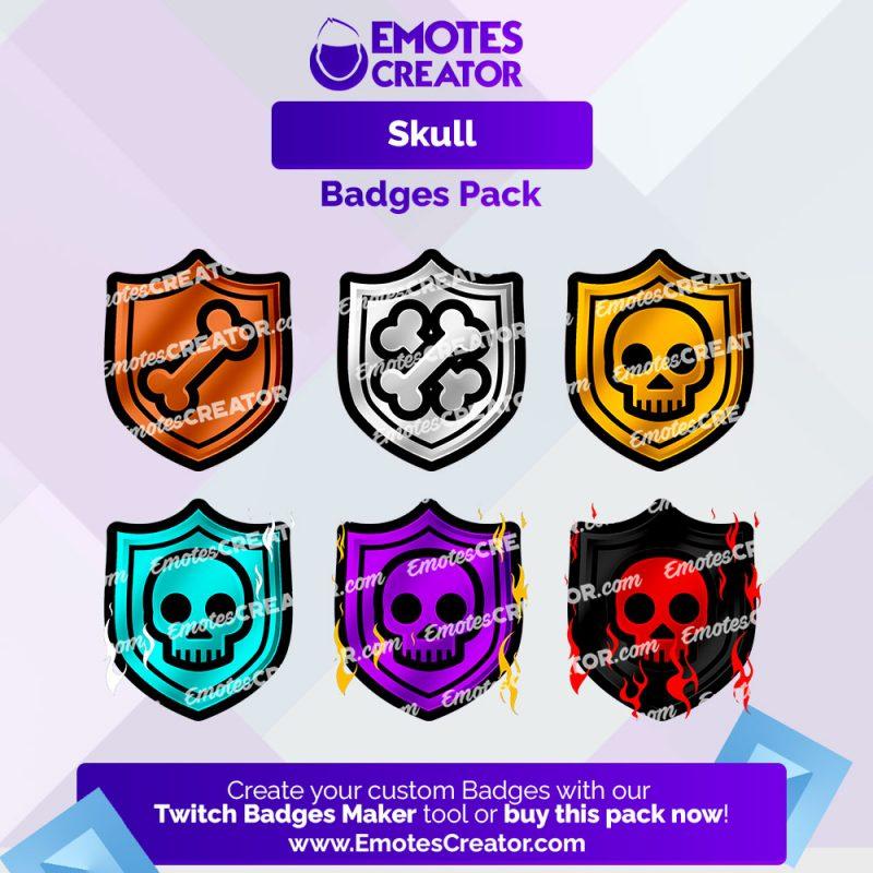 Skulls Sub Badges Pack