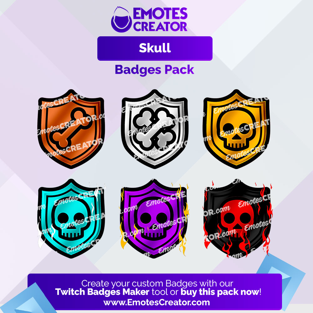 Skull Twitch Badges