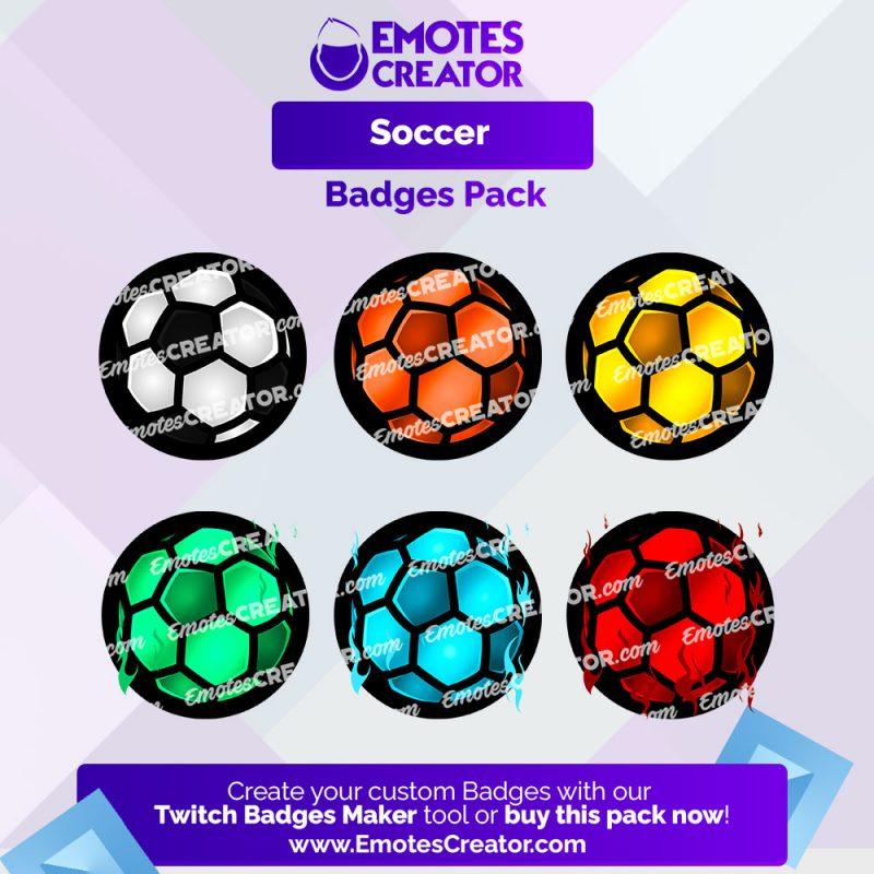 Soccer Sub Badges Pack