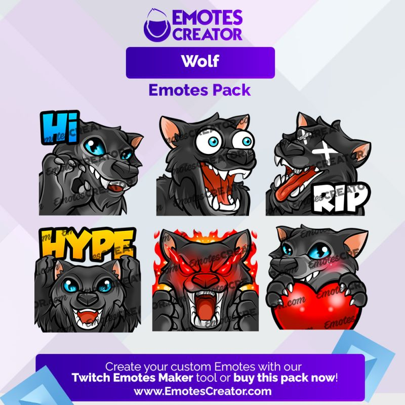 Wolf Emotes Pack