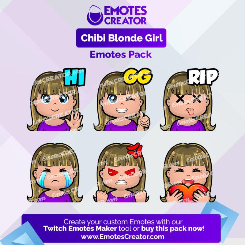 Chibi Girl Emotes Pack