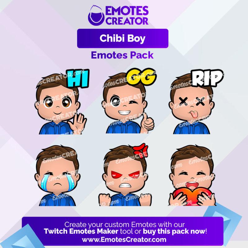 Chibi Boy Emotes Pack