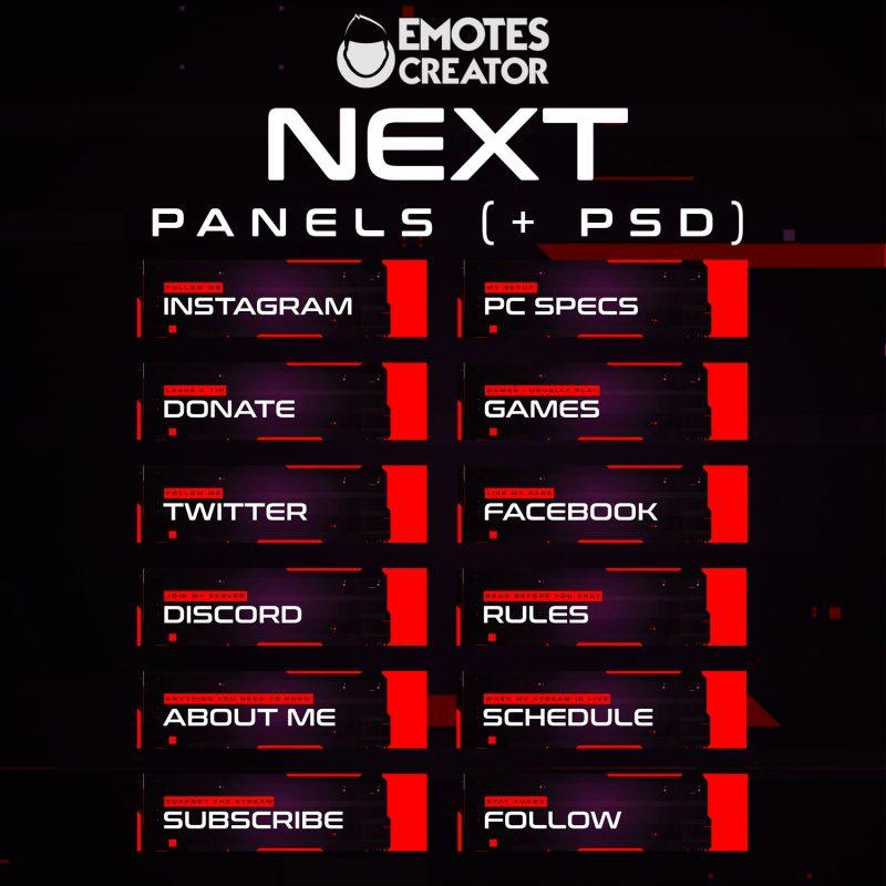 Next Twitch Panels
