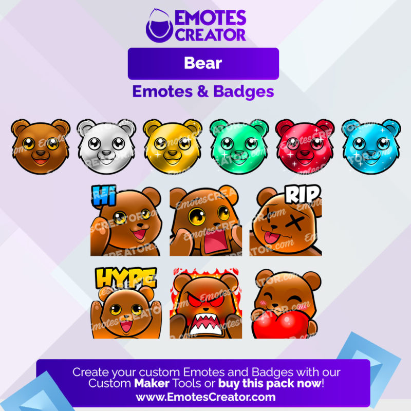 Bear Emotes&Badges Bundle