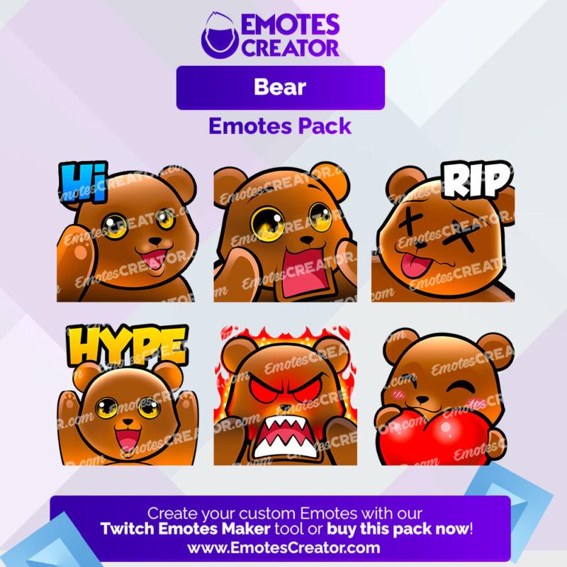Bear Emotes Pack