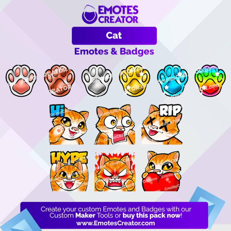 Cat Emotes&Badges Bundle
