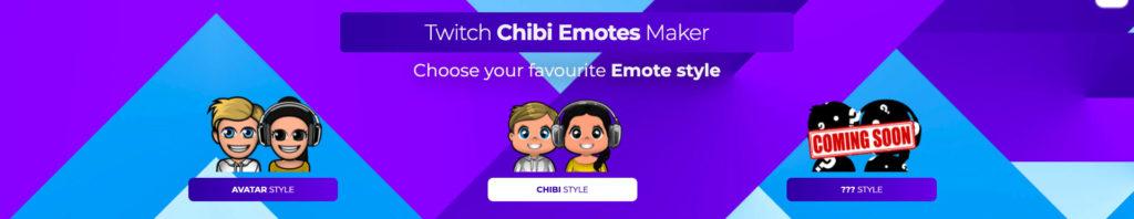 Choose style twitch emotes
