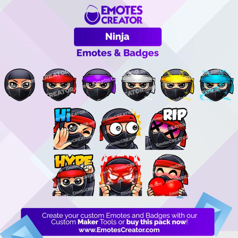 Ninja Emotes&Badges Bundle
