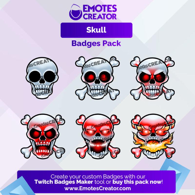 Skull Badges Pack
